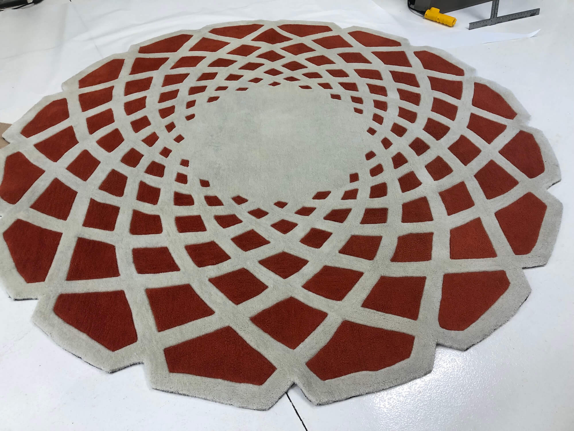 Chem-Dry Cleaned Red Rug